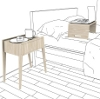 koko side table with laptop desk and tray