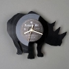 wall clock made of old vinyl record